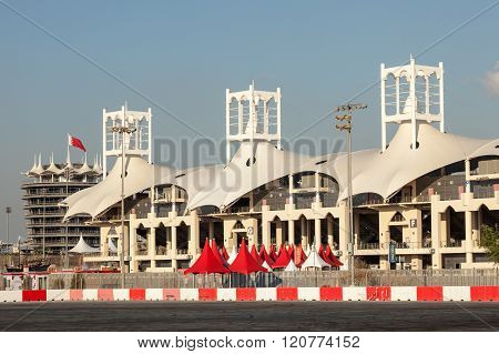MANAMA, BAHRAIN - NOV 16: Grandstand at the Bahrain International Circuit. November 16 2015 in Bahrain Middle East