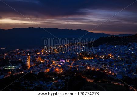 Chefchaouen at night