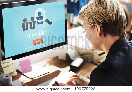 Hire Me Career Employment Hiring Occupation Concept