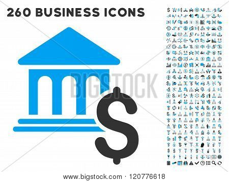 Pay Museum Icon with Flat Vector Set