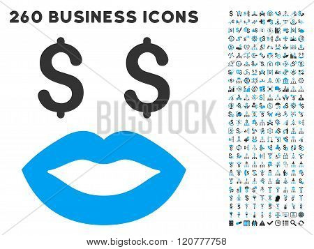 Prostitution Smiley Icon with Flat Vector Set