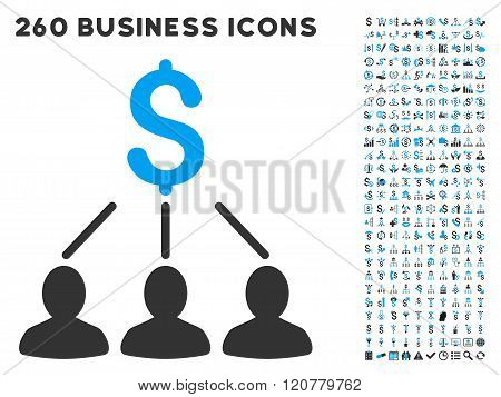 Shareholders Icon with Flat Vector Set