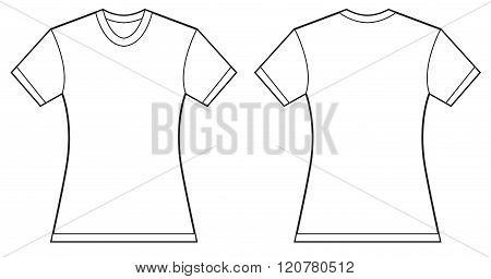 Women Blank Shirt Design Template