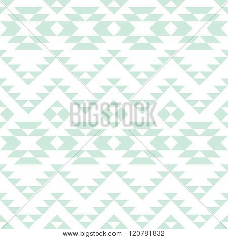 seamless pattern with monochrome tribal ornament