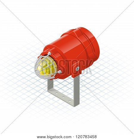 Isometric Beacon A Safety Equipment Tool