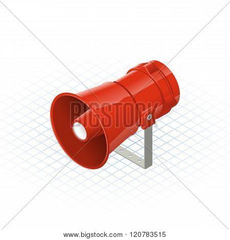 Isometric Loudspeaker Alarm Horn Sounder A Safety Equipment