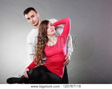 Sexy Woman And Handsome Man. Sensual Couple.