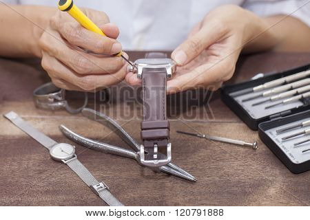 Repair And Restoration Of Watches , Macro Shot
