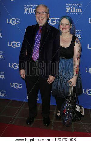 SANTA BARBARA - FEB 4:  Leonard Maltin, Jessie Maltin at the 31st Santa Barbara International Film Festival - Maltin Modern Master on February 4, 2016 in Santa Barbara, California