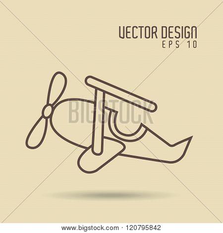 airplane drawn design