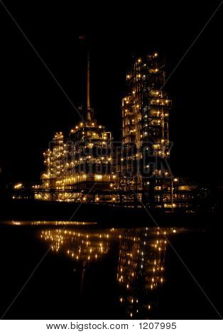 The Chemical Factory At Night