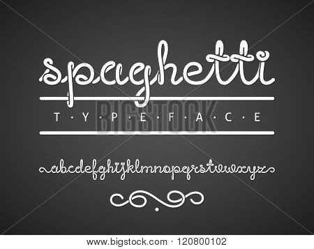 Vector spaghetti typeface