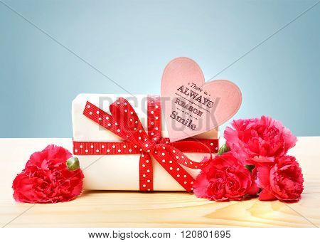 There Is Always A Reason To Smile Message With Gift Box
