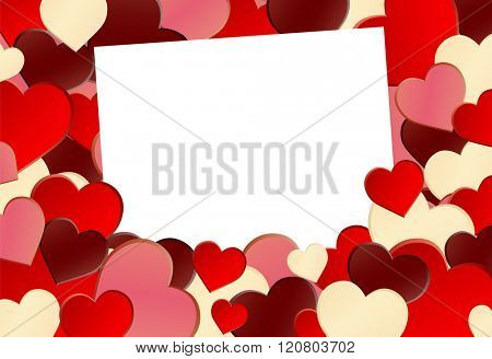 Red Heart Shape Background