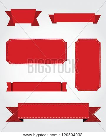 A collection of vector ribbons, frames and pennants