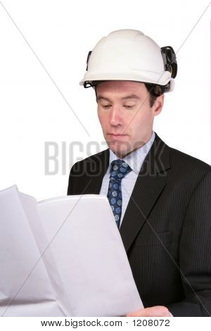 Architect Reading Plans