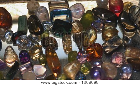 Gemstones On Mirror