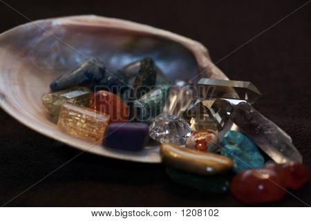 Seashell And Gemstones