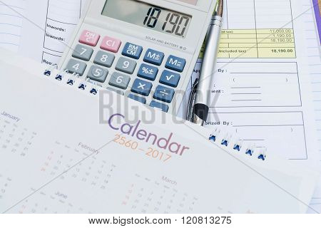 Calculator And Calendar Put On Document Requested