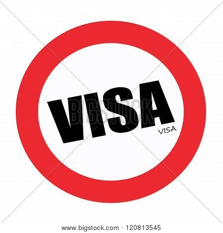 an images of VISA black stamp text on white
