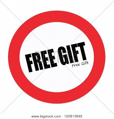 FREE GIFT black stamp text on white