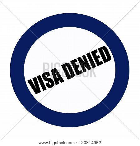 VISA DENIED black stamp text on blueblack