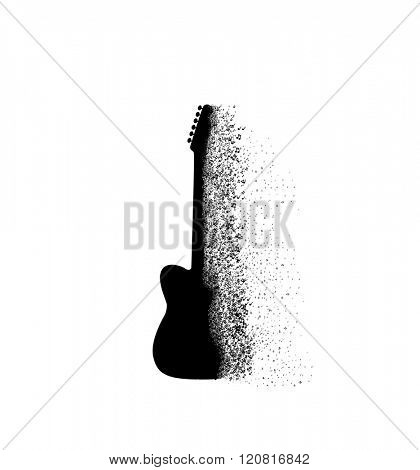 Guitar icon Music background easy all editable