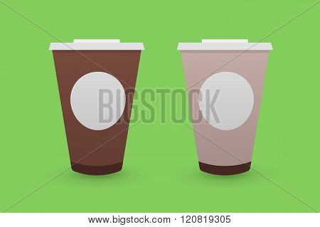 Brown Tea and Coffee Plastic Cups