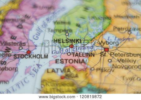 Estonia Country Map .