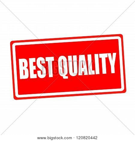 Best quality white stamp text on red backgroud