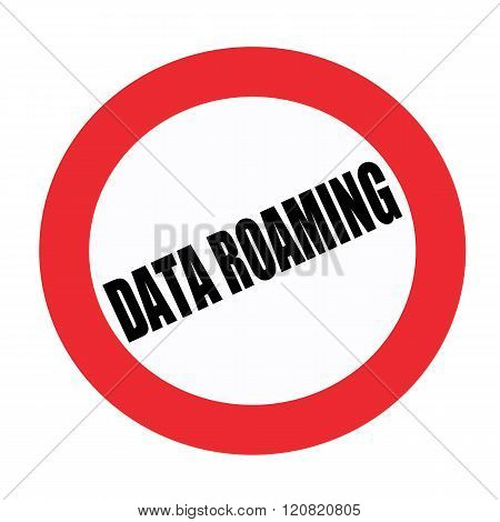 Data roaming black stamp text on white