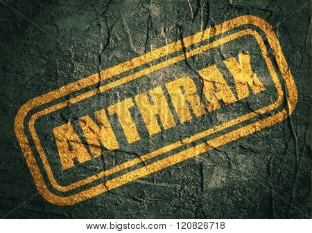 stamp with anthrax text over grunge background