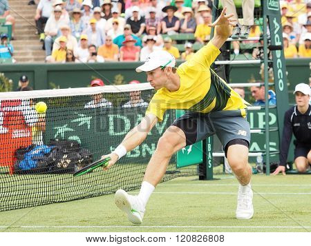 Australian Tennis Player John Peers During Davis Cup Doubles T