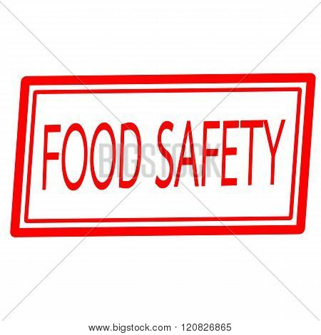Food safety red stamp text on white