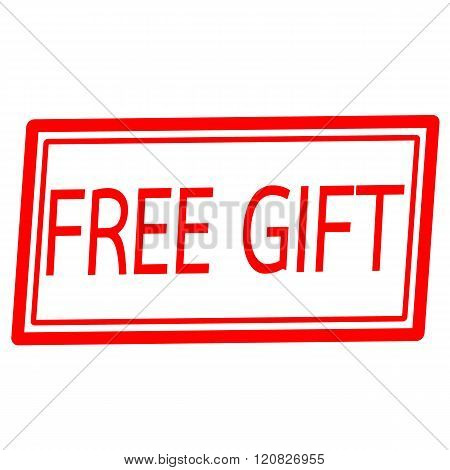 Free gift red stamp text on white