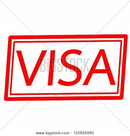 an images of VISA red stamp text on white