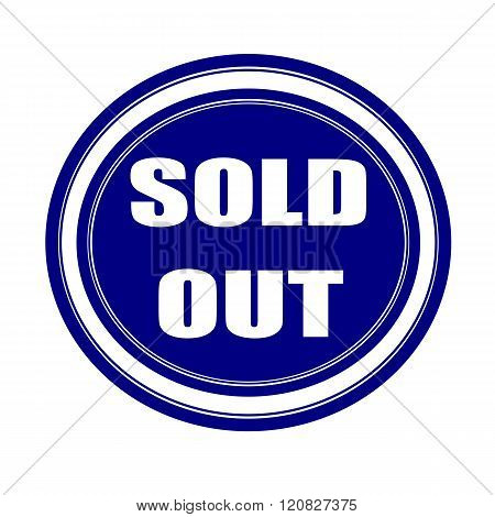 SOLD OUT white stamp text on blueblack