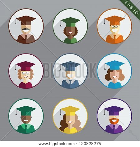 Men And Women Graduates Of The World