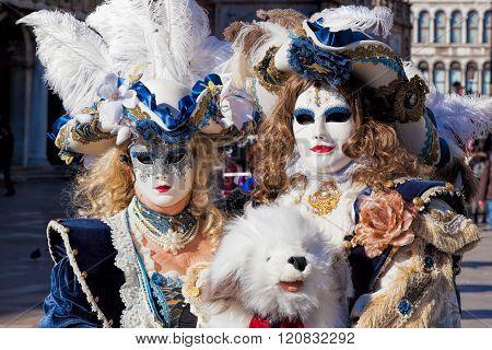 Amazing Carnival Masks In Venice, Italy