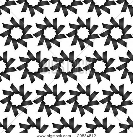 Seamless Black And White Abstract Pattern From Repetitive Trapezoids