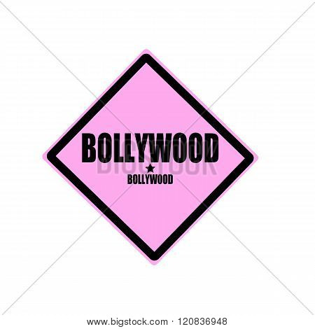 Bollywood Black Stamp Text On Pink Background