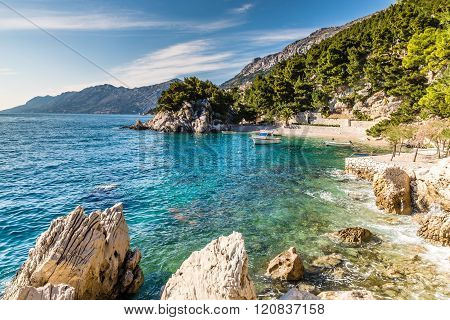 Beautiful Remote Bay On Makarska Riviera- Podrace Makarska Dalmatia Croatia