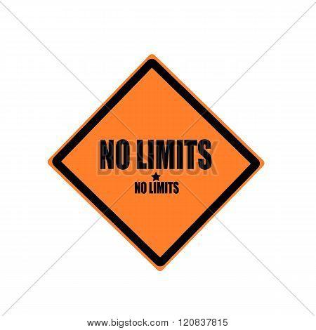 No Limits Black Stamp Text On Orange Background