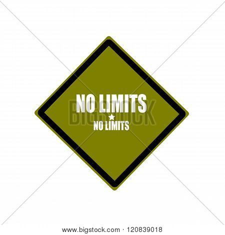 No Limit White Stamp Text On Green Background