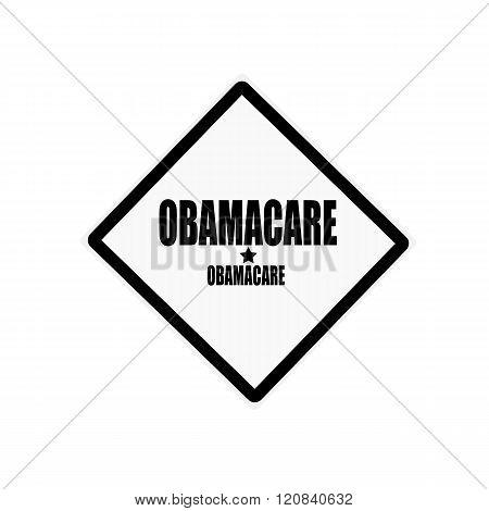 Obamacare Black Stamp Text On White Background
