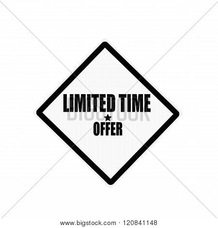Limited Time Offer Stamp Text On White Background