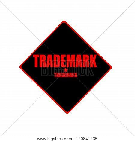 Trademark Red Stamp Text On Black Background
