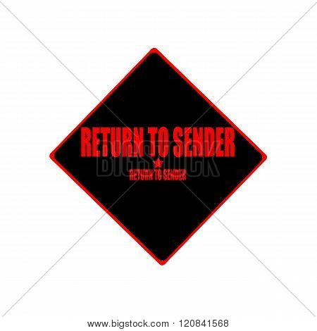 Return To Sender Red Stamp Text On Black Background