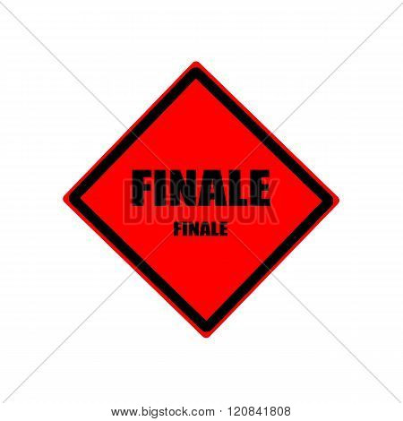 Finale Black Stamp Text On Red Background