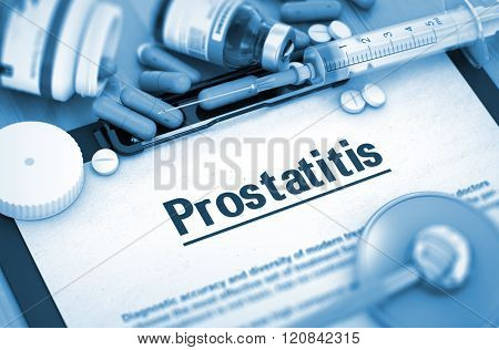 Prostatitis. Medical Concept.